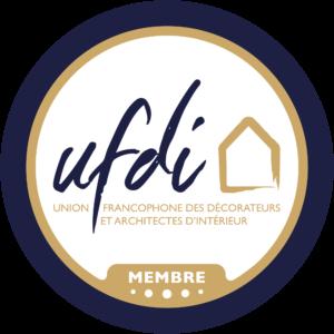 Badge Membre UFDI, le réseau des Décorateurs et Architectes d'intérieur