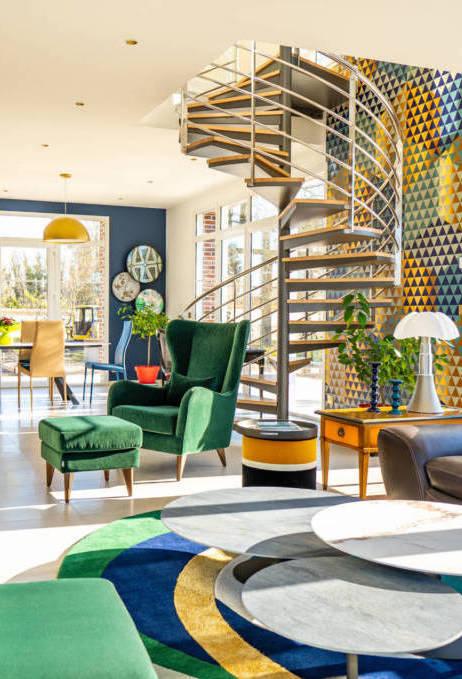 Décorer son escalier et son salon par Christel Dubois, Décoratrice d'intérieur